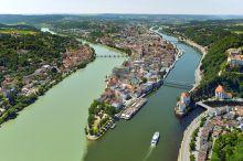 Passau Blick von oben (c) Stadt Passau